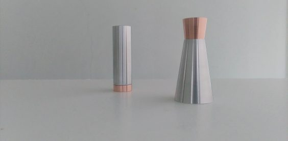 Don't forget your lipstick or your perfume - Candlesticks - Materials: anodised aluminum, solid copper